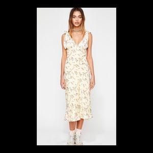 NWT Floral Silk Midi Dress